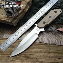 Argentina Cuchillo de hoja fija STRIDER G10 Mango D2 Hoja Herramientas tácticas Cuchillos de supervivencia para acampar Cuchillo de bolsillo OEM Acero frío Herramienta LCM66 Suministro