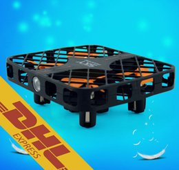 Wholesale Rc Frames - HappyCow 777-382 Wholesale 2.4G Mini RC Drone with Protective Frame 4CH Quadcopter 6 Axis Gyro RTF Remote Radio Control Airplane Toys