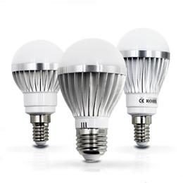 Wholesale E14 5w Led Bulb Light - 2017 LED lamp E27 E14 IC 3W 5W 7W 9W 12W 15W 85V-265V LED Lights Led Bulb light lighting high brighness Silver metal