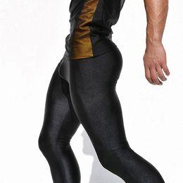 Wholesale Legging Spandex High Waist - Wholesale-New Men's Clothing High Stretch Tight Skinny Pants Low Waist Mens Legging Hombre Spandex Casual Pants Pantalon Homme