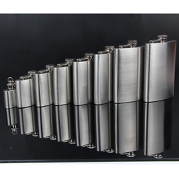 Wholesale Mini Wine Flask - Hip Flasks Environmental Protection Plastic Cover Stoup Stainless Steel Portable Wine Pot Bottle Tabula Rasa Flagons Simple 4 98td8