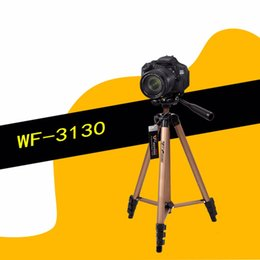Wholesale Wf Tripods - WF-3130 Universal Aluminum Alloy 360 Degree Rotation Camera Tripod Anti-Skid Design Lightweight Tripod For Canon For Sony