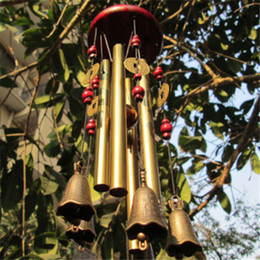 Wholesale Wall Hanging Bell - Outdoor Living Wind Chimes Yard Antique Amazing Garden Tubes Bells Copper Home Windchime Chapel Bells Wall Hanging Home Decor