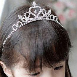 Wholesale Wholesale Paper Tiaras - The Crown Princess hair headdress children Festival diamond crown delicate little girl head hoop hoop.