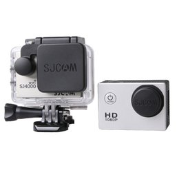 Wholesale House Wifi Camera - Wholesale- SJ4000 WIFI Accessories Lens Cap Cover + Standard Waterproof Case Housing Cover With Logo For SJ 4000 Sport camera