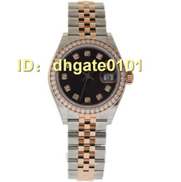 Wholesale B Mechanical Watches - Free shipping new watches. * NEW *New 279381 Steel Gold Diamond Chocolate B&P
