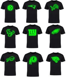 Wholesale Raiders Shirt L - Men's american football tee new dallas cowboy Los Angeles Charger OAKLAND RAIDER night light logo all the team T-Shirt for men's women kid