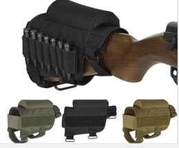 Wholesale Rifle Ammo Holder - Hunting Tactical Nylon Ammo Shell Holder Cheek Rest Case Pouch Holster for Rifle Shooting Buttstock .308 or .300 Winmag
