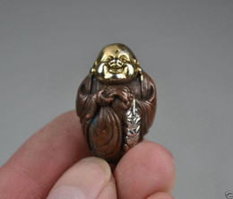 Wholesale Money Bag Pendants - Collectibles Decorated Copper Silver Carving Buddha Exquisite Rare Pendant