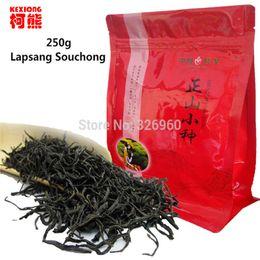 Wholesale Stomach Warmer - C-HC033 Chinese Organic Top Lapsang Souchong 250g without smoke Wuyi Red Tea Warm Stomach Black Tea lowering blood pressure+Secret Gift