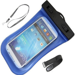 Прозрачный водонепроницаемый чехол для мобильного телефона онлайн-Для Смарт-Телефона Универсальный Прозрачный Водонепроницаемый Чехол Сумка Водонепроницаемая Сумка Подводная Крышка Для Сотового Телефона Samsung Galaxy S6 Примечание 4