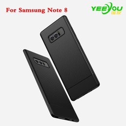 Wholesale Hard Wire - For Galaxy Note 8 Case TPU Brushed texture Wire drawing Shockproof Hard Plastic Back Cover For Samsung Cases