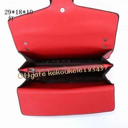 Wholesale New Black Real Leather Handbag - 2017 New style 29cm GgBrand Ladies Bag Leather Women's Handbag Luxury Brand Name Women Bag High Quality Real Leather Shoulder Bag purse
