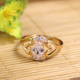Wholesale Gold Plated Rings Mix - Fancy Latest Gold Finger Ring Designs 18K Yellow Plated Finger Rings For Wedding 3 Colors Mixed Sizes And Colors 10pcs A Lot