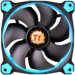 Wholesale Blue Led Fan Case - ThermalTake 12cm fan Riing 120 LED BLUE GREEN ORANGE RED WHITE YELLOW for computer case