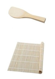 Wholesale Roller Material - Hot Kitchen Accessories Sushi tools Rolling Roller Bamboo Material Mat Maker DIY and A Rice Paddle Cooking Tools