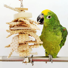 Wholesale Pet Birds Parrots - Top Selling Parrot Birds Bites Swing Loofah Toys Cockatiel Parakeet Chewing Toy Cages Pet Bird Toys JJ0203