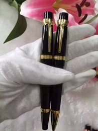 Wholesale Ballpoint Pens Wholesale - Balzac Collection Twin Pen Treasure 1 ballpoint   roller pen Classic White Flower On Pen Top