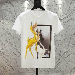 Wholesale Classic Shirts Design For Men - 2017 brand new Classic fawn design short sleeve T-shirt lovers personality short sleeve T-shirt for men and women free shipping