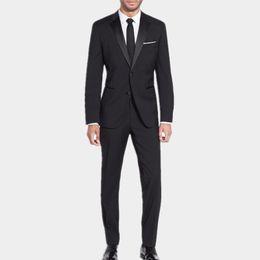 Wholesale Men S Grooming Set - New design Men's Charcoal Work Business Formal Suit Set Men Wedding Groom Suits tuxedos Best man Single Breasted Suits( jacket+Pants)