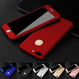 Wholesale Iphone Hard Screen Protector - 360 Degree Full Coverage Hard PC Case For Iphone 7 Plus 7 6 6S Plus 5S SE 5 With Screen Protector Back Cover With Hole MOQ:10pcs Free Ship