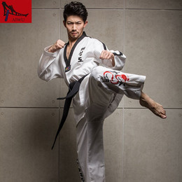 Wholesale Wtf Taekwondo - New Genuine High-end WTF taekwondo dobok Adult Men And Women Taekwondo Uniforms Long Sleeved Male Female Clothing