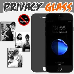Wholesale Iphone 4s Real - Privacy Tempered Glass Screen Protector Anti-Spy 9H 2.5D Hardness Premium Real Film Protective Guard For iPhone 7 Plus 6 6S 5 5S 4 4S