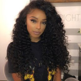 Wholesale Human Hair Jerry Curl Wig - Jerry Curly Full Lace Human Hair Wigs For Black Women Indian Remy Hair Loose Curls Lace Front Wig Glueless Natural Color 10-24 Inches