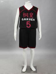Wholesale Kuroko Cosplay Jersey - Wholesale-Kuroko No Basketball (Kuroko's Basketball) Touou High Aomine Daiki jersey black No.5 short-sleeved anime cosplay