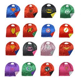 Wholesale Superhero Adult Costume - Superhero Cape Double sides 50*70 70*70 90*70cm110*70cm140*90 Stage Performance Cosplay Costumes Boys Girls Kids Adult Christmas Halloween