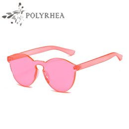 Wholesale Sunglasses Luxury Original Box - New Luxury Women Sunglasses Brand Original Design Frameless Sunglasses Classic For Women Design Gradient With Box And Cases