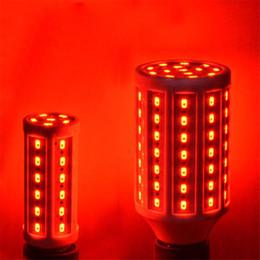 Lámpara de maíz led azul online-Brillante 10W 15W 20W 25W 30W 40W 60W E27 5730 SMD Bombilla LED 220V Rojo / Azul / Verde Lámpara de iluminación LED Lámpara de maíz Foco