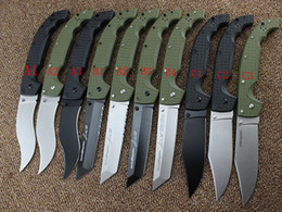 Wholesale Stainless Steel Survival Knife Blade - Drop 10 Types Cold Steel Knives XL-SIZE VOYAGER Series Big Folding Knife Utility Survival Knifes Hunting Tactical Outdoor Camping Tool