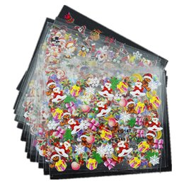 Wholesale 3d Decals For Nails - Wholesale- Top Nail 24 Pcs Lot Beauty Christmas Design Bronzing Nail Art Sticker Decals 3D Manicure Stamping Stickers For Nails JH159
