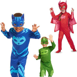 Wholesale Mask M - 2017 PJ Costumes hero of children cosplay costume and PJ Masks cosplay costume and birthday party cosplay costume