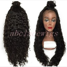 Wholesale curly red full lace wig - Fashion Loose Curly Black Synthetic Lace Front Wig With Baby Hair Thick Full Head Heat Resistant Synthetic Wigs For Black Women In Stock