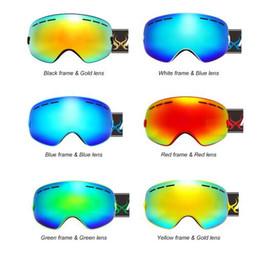 Wholesale Mask Goggle - SNOW-4300 Ski Goggles Snowboarding Skating Goggles UV400 Anti-fog Skiing Goggles Wide Spherical PC Lens Big Ski Mask