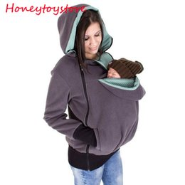 Wholesale Pregnancy Coat - Baby Carrier Jacket Kangaroo Outerwear Hoodies &Sweatshirts Coat for Pregnant Women Pregnancy Baby Wearing Coat Women
