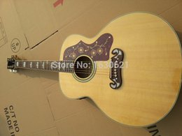 Acoustique d'érable flammé à vendre-Wholesale- 2015 New + Factory + Chibson J200 guitare acoustique J200 acoustique acoustique Guitare de luxe AAA grade flamme érable bodysides
