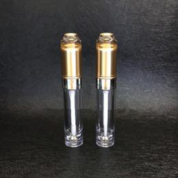 2019 klarer lipgloss großhandel 5ml Gold Clear Plastic Leere Lipgloss Lipstick Tubes Container Großhandel Einzelhandel nachfüllbar Lippenöl Verpackung F20171659 günstig klarer lipgloss großhandel