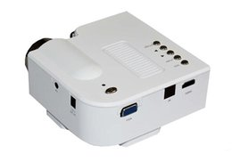 Wholesale Projectors For Computers - Wholesale-ILLUMINE 2016 UC28+ HD home projector mini portable small 3D projector used for Apple computer U disk TV