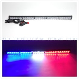 Wholesale Led Lights Fire Trucks - 09017 30 LED High Power Strobe Light Fireman Flashing Police Emergency Warning Fire Flash Car Truck Yellow White Blue Amber Red
