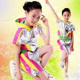 Wholesale Babies Clothes Shops - Hot sell 2pcs Children Lala Performance Clothing Football baby clothes Girl Modern Dance Performance Costume free shopping