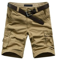 Wholesale Overall Work - Hot Sale Summer Men's Army Cargo Work Casual Bermuda Shorts Men Fashion Sports Overall Squad Match Trousers Plus size 29-38