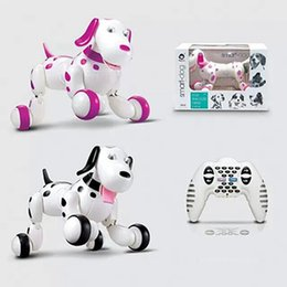 Wholesale Wholesale Toy Plastic Animals - Retail Wholesale Intelligent Remote Control Machine Dog 2.4G Programmable Electric Toy Dog Multi - functional Ben Stupid Dog