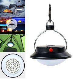 Lampade a ombrello online-Lampada da campeggio portatile a 60 LED da esterno Lampada da esterno a batteria a ombrello con 3 modalità di illuminazione