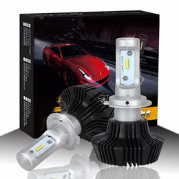 Wholesale H4 H7 Conversion Kit - 2-Pack H7 H4 H11 Car LED Headlight Plug and Play G7 LAMPADE 55W 8000Lms For Philip's Chip Lumileds Luxeon ZES LED Headlight Conversion Kit