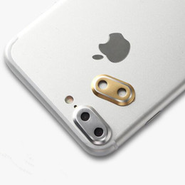 Wholesale Iphone Circle Case - phone camera lens protector ring metal guard circle for iphone7 iphone 7 plus back camera lens cover case bumper DHL free GSZ278