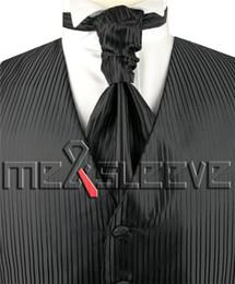 Wholesale Mens Vests Ascot Tie - New arrival free shipping Mens Suit Tuxedo Dress Vest (vest+ascot tie+handkerchief+cufflinks)