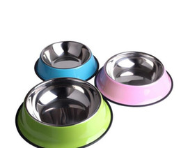 Wholesale Stainless Steel Pet Dry Food Cat Bowls for Dogs Feeding Dog Bowls ML Drinking Water Fountain